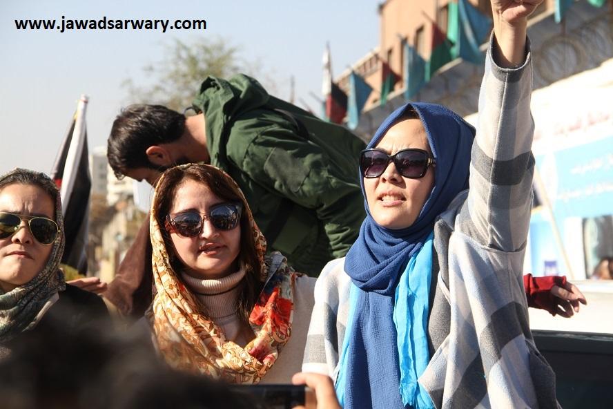 تظاهرات بزرگ تیم انتخاباتی ثبات و همگرایی افغانستان در شهر کابل