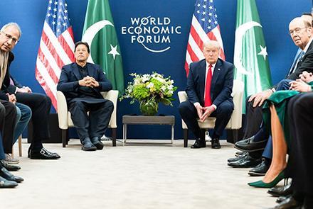 دیدار عمران خان با ترامپ دربارۀ افغانستان
