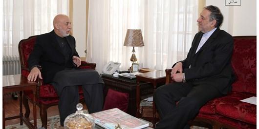 کرزی بر تحکیم و گسترش روابط دوستانه میان ایران و افغانستان تاکید کرد