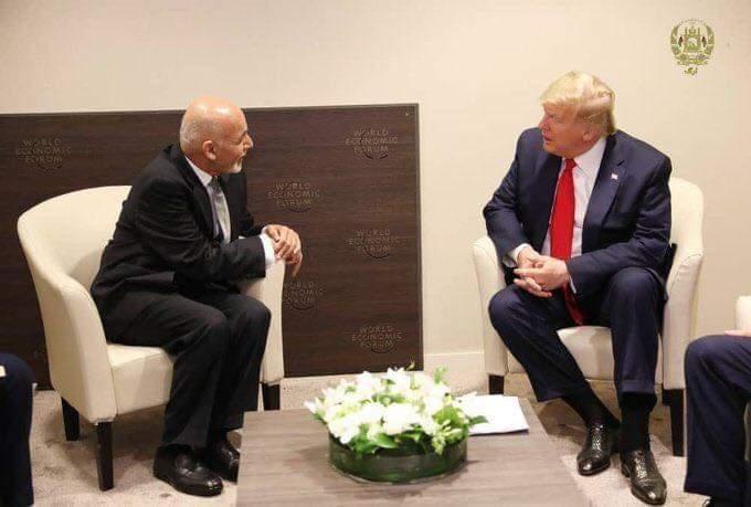 دیدار غنی با ترامپ در داووس