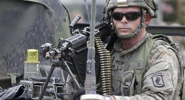 سلاح کشیدن نیروهای آمریکایی و روسی به روی یکدیگر در جاده بینالمللی حسکه - حلب