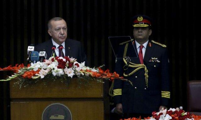 اردوغان در اسلام آباد: معامله قرن، طرح صلح نیست، طرح اشغالگری است