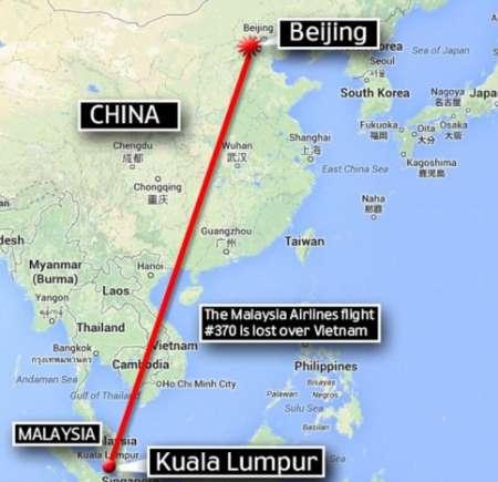 هواپیمای ناپدید شده خطوط هوایی مالزی با 239 سرنشین سقوط کرد