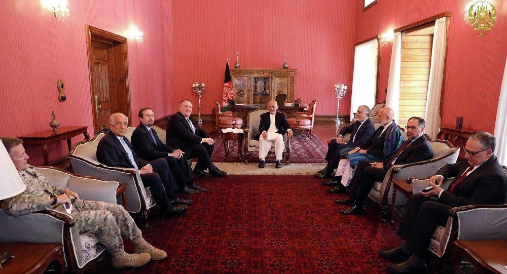 گفتگوی تلفنی رئیس جمهور افغانستان و وزیر خارجه امریکا