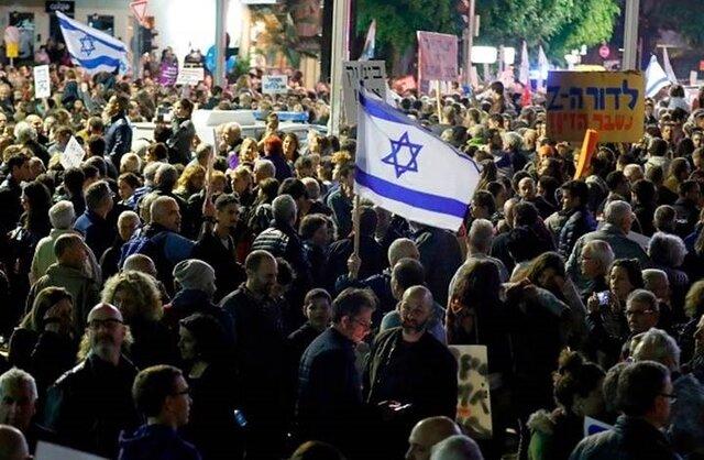 تظاهرات هزاران اسرائیلی در قدس و تلآویو با درخواست استعفای نتانیاهو