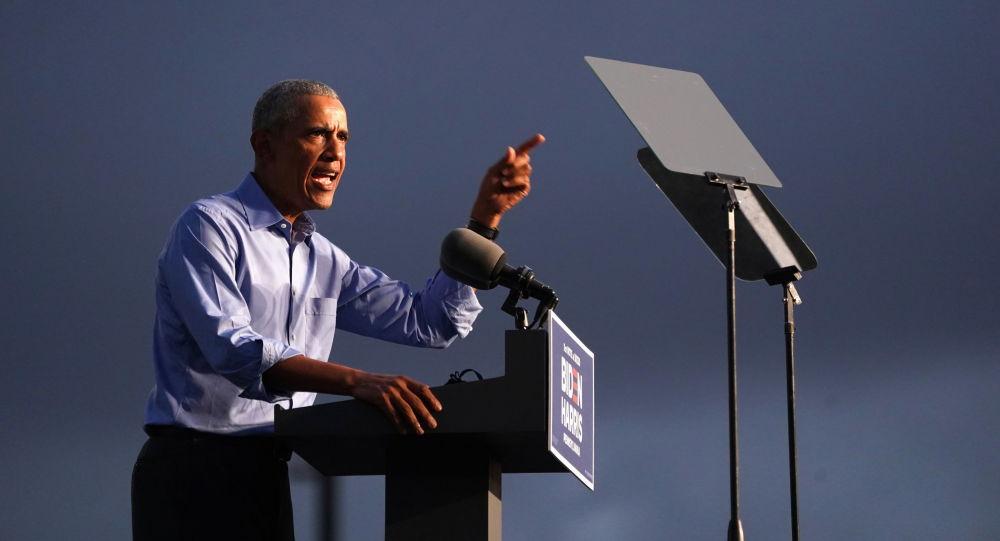 نخستین سخنرانی حضوری اوباما در حمایت از جو بایدن