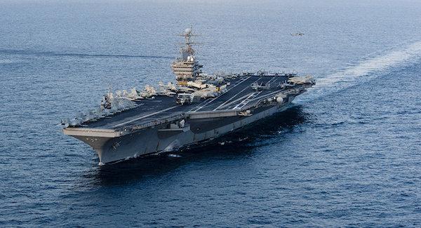 راکت ایران در فاصله 160 کیلومتری کشتی آمریکایی فرود آمد